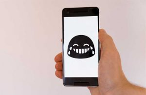 Smiley face animation on mobile