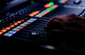 Sound adjustment in the studio