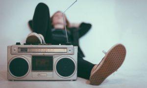 A retro style radio