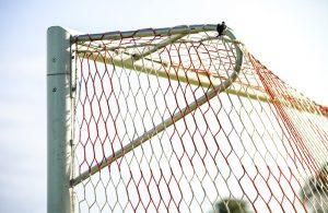 Close up of a goal